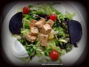 Ensalada vegana de tofu Restaurante El Duque bodas Gijón menús especiales